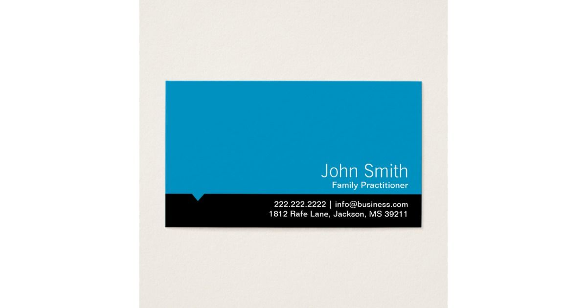 modern blue family practitioner business card  printing