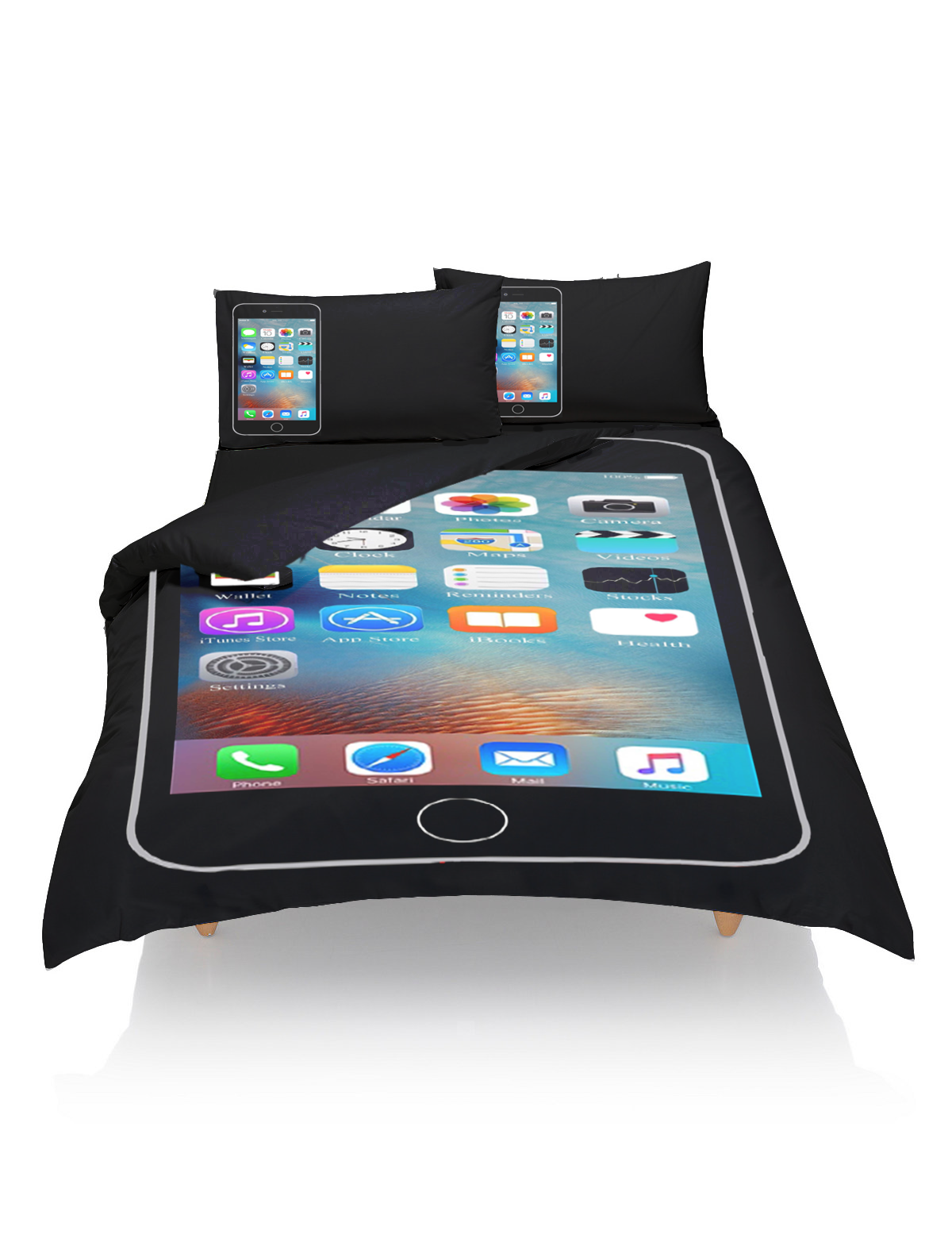Uncategorized Unique Pillowcases a unique iphone duvet cover and pillowcase bedding print perfect for teamiphone exclusive