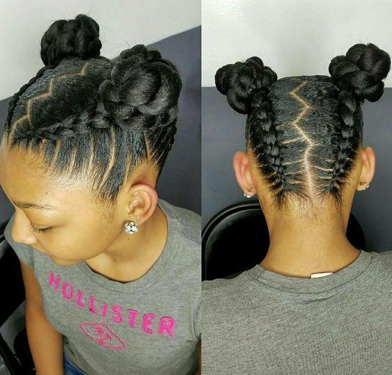 12 Easy Winter Protective Natural Hairstyles For Kids #naturalhairstyles