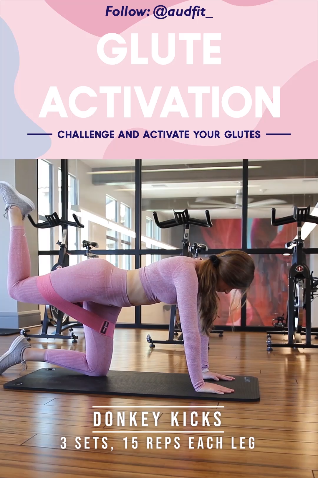 Glute activation is a great way to warm up those glutes for leg day. Do these glute exercises to get the most out of your lower body workouts. Give my top 4 glute activation workouts a shot! Follow me @audfit_ on instagram!  #gluteworkout #gluteactivation #resistanceband