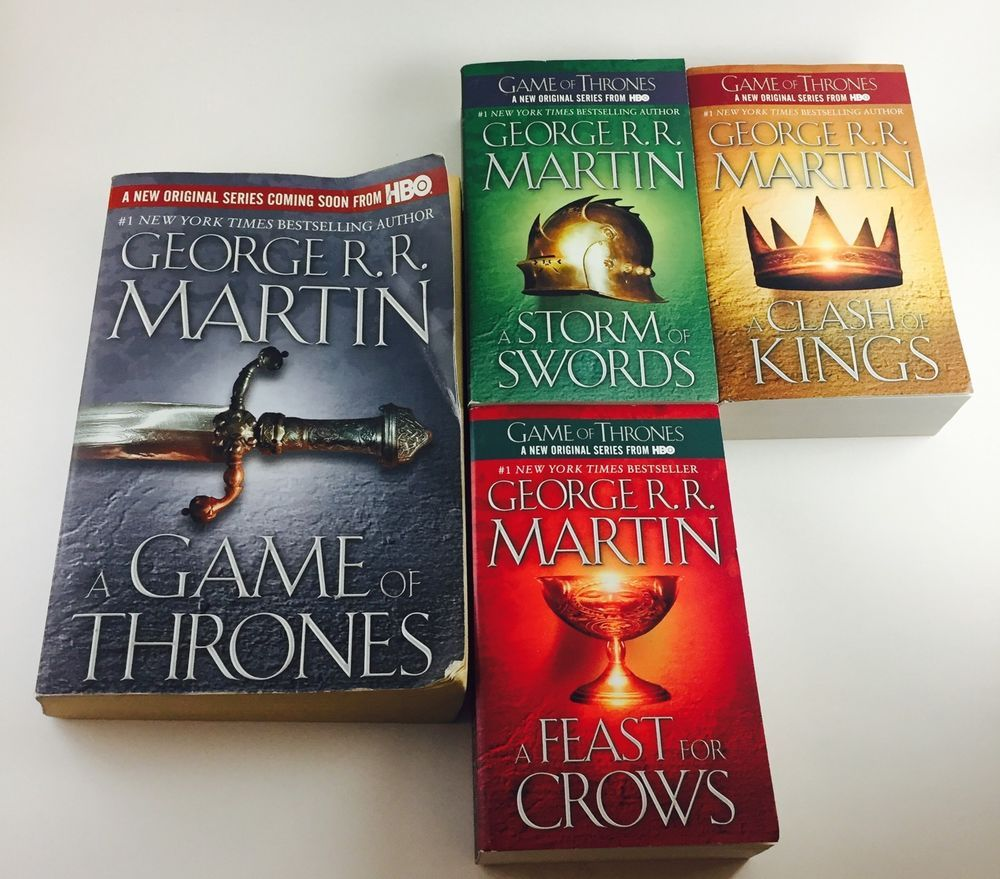 A Song of Ice and Fire Game of Thrones Books 14 Set Lot