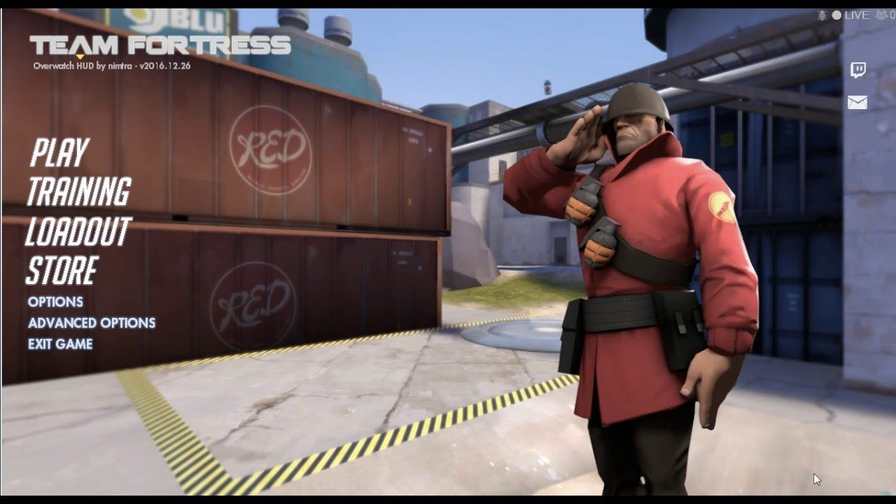 How To Install Overwatch Hud On Team Fortress 2 #games