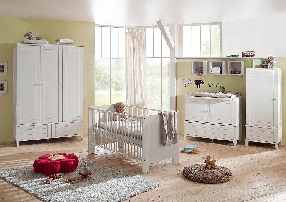 Komplett Babyzimmer »Bella weiß« im Landhausstil: Babybett + ...