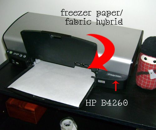Design Transfer Tutorial: Freezer paper + fabric + iron ...feed through printer