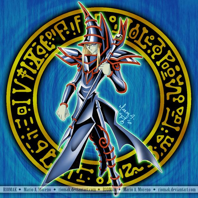 Dark Magician Blue By Riomak On Deviantart The Magicians Dark Magician Cards Anime Monsters