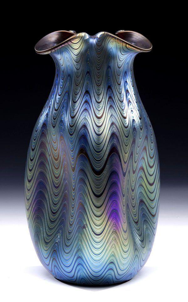 480: Vase Rubin Phaenomen Loetz Glass Art Deco Nouveau : Lot 480