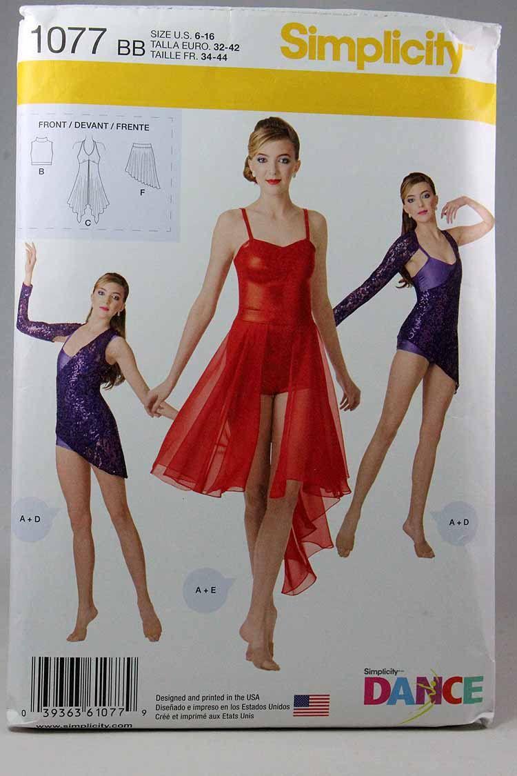 Simplicity 1077, Misses' Dance - 112.4KB