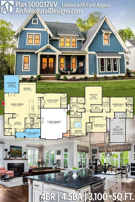 Plan 500037VV: Loaded with Curb Appeal