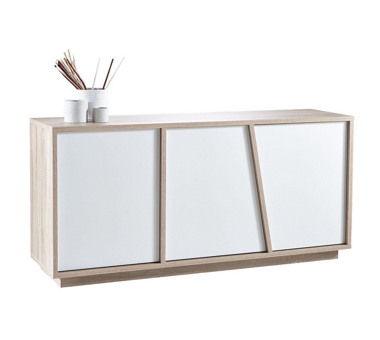 Buffet Nature Evasion Blanc Et Imitation Chene Buffet Bas Panneau Lateral Buffet Design