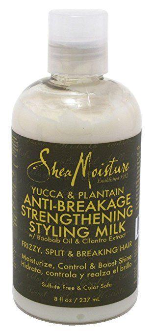Shea Moisture Yucca Plantain Anti Breakage Strengthening Styling Milk 8oz Shea Moisture Products Moisturizer Breaking Hair