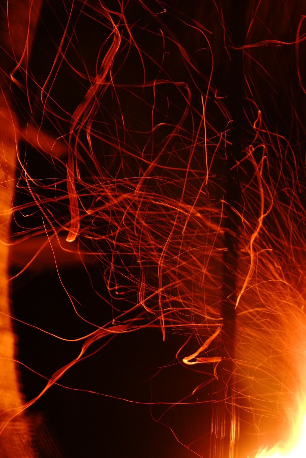 Long Exposure On The Camp Fire Art Photography Imagery Beautiful Meaning