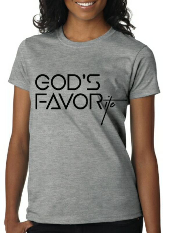 18 T-shirt - GOD S FAVORITE  Jerzees Cotton Poly Blend- Unisex Tee  Silk  Screen Imprint (REDeemed Wear Apparel) 73360268f0ec