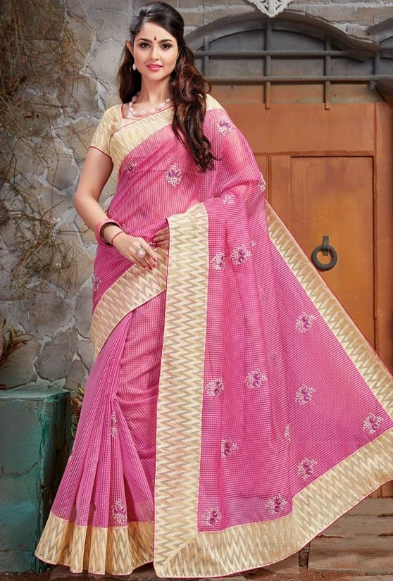 Fantastic Light Pink Saree - Women
