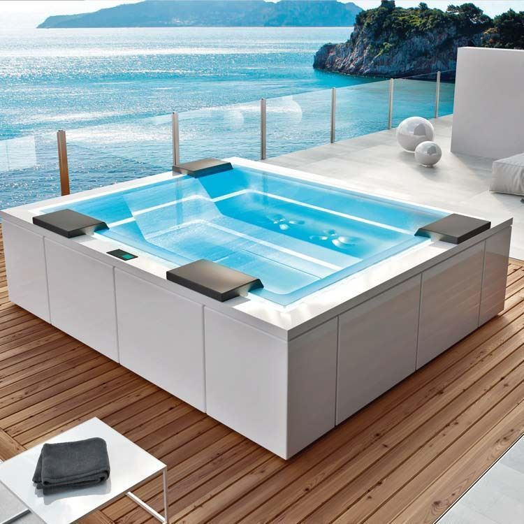 Zen Gruppo Treesse Jacuzzi outdoor, Backyard pool
