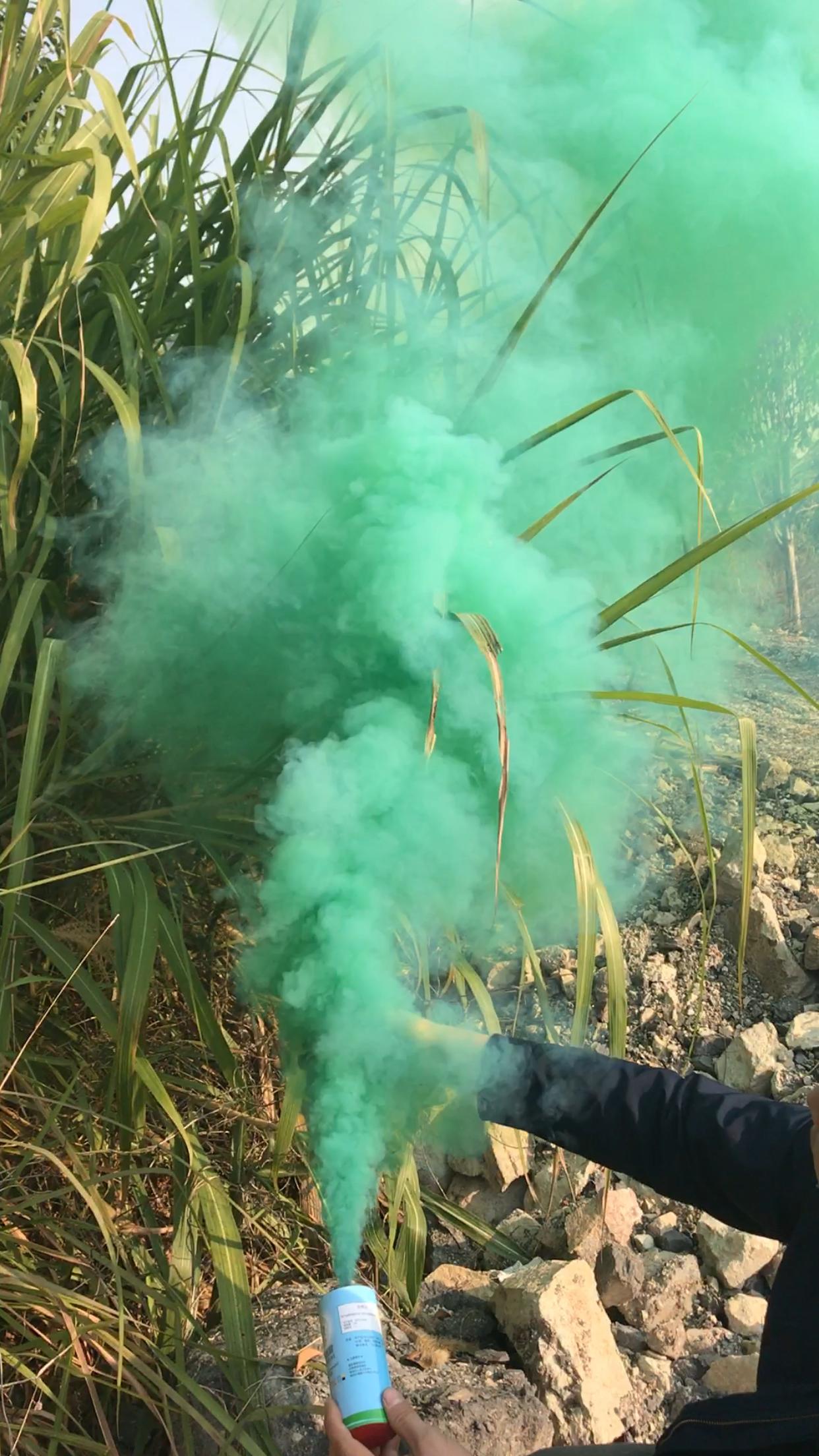 China Liuyang Color Smoke Bomb Green Color Smoke Bomb Smoke Bomb Color