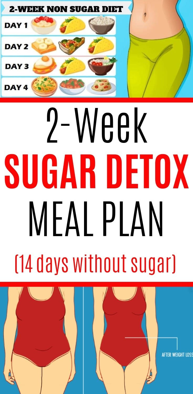 2-Week Sugar Detox Meal Plan #sugardetoxplan