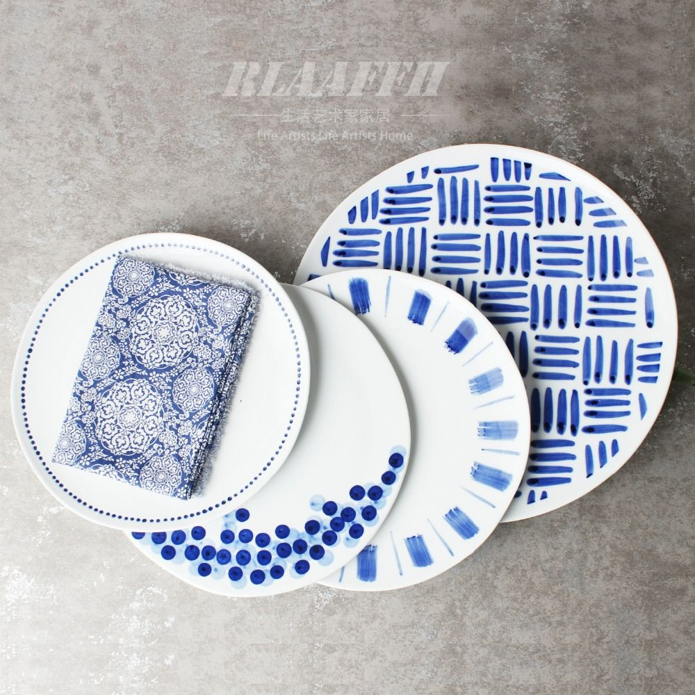 11 inch hand painted Classical blue and white new design ceramic ...