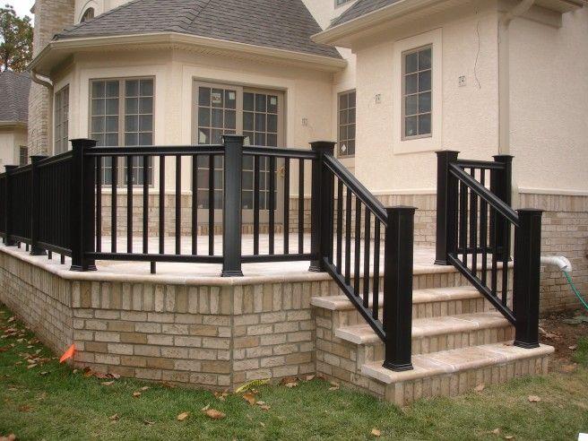 concrete patio patio railing