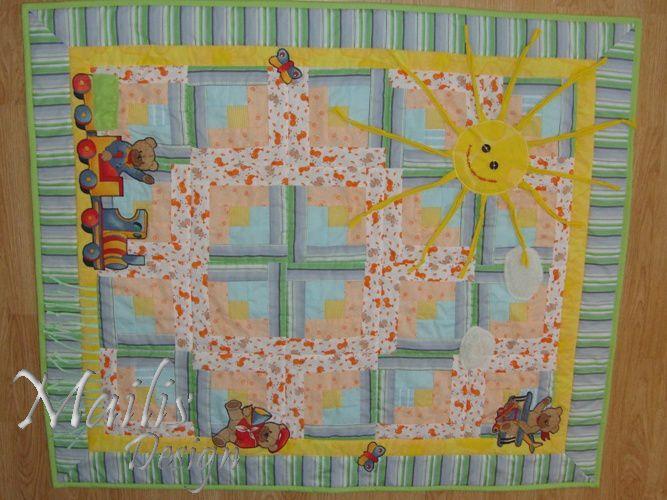 """Baby Quilt The Sun / Laste lapitekk seeriast """"7 päikest"""" (110x130cm), tekk 1 - roheline"""
