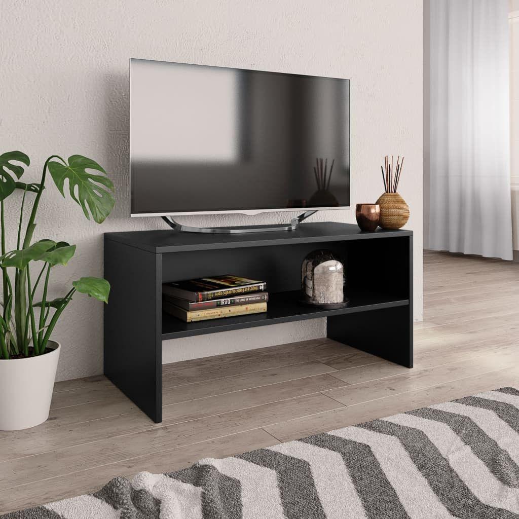 Stevige Tv Kast.Tv Meubel 80x40x40 Cm Spaanplaat Zwart Spaanplaat Meubels En