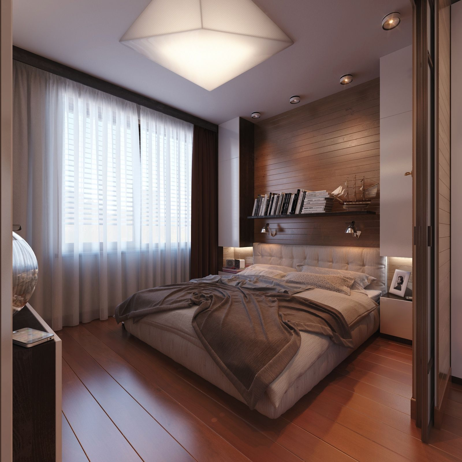 modern bedroom design the wall - Bedroom Design Wood