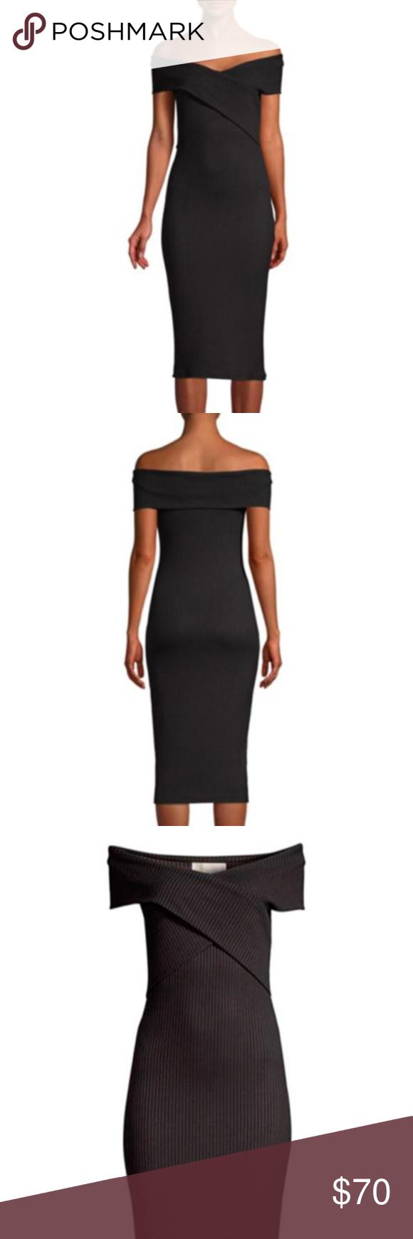 Michael Kors Core Of Kors Black Ribbed Dress Xl Ribbed Dresses Ribbed Knit Dress Black Rib [ 1740 x 580 Pixel ]