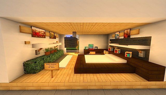 Minecraft Einrichtung Schlafzimmer Modern Bedroom Interior Pack (4) | Download | Pop Reel