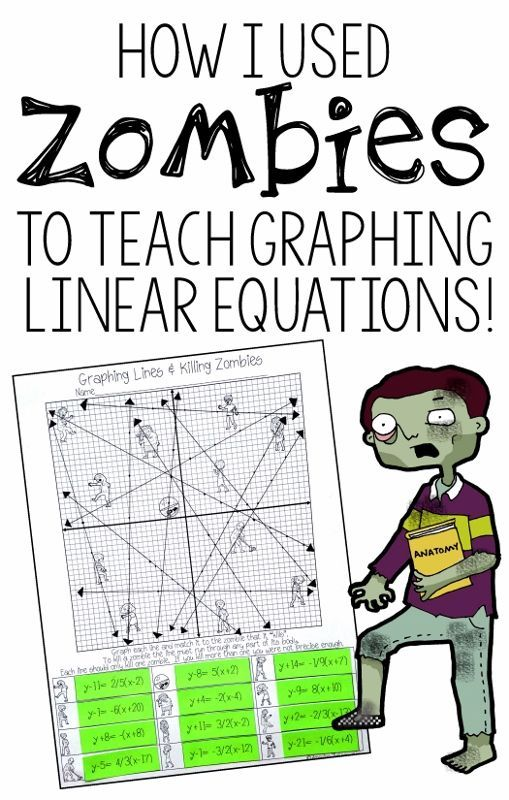 Graphing Lines & Zombies ~ All 3 Forms | 8th grade math ...