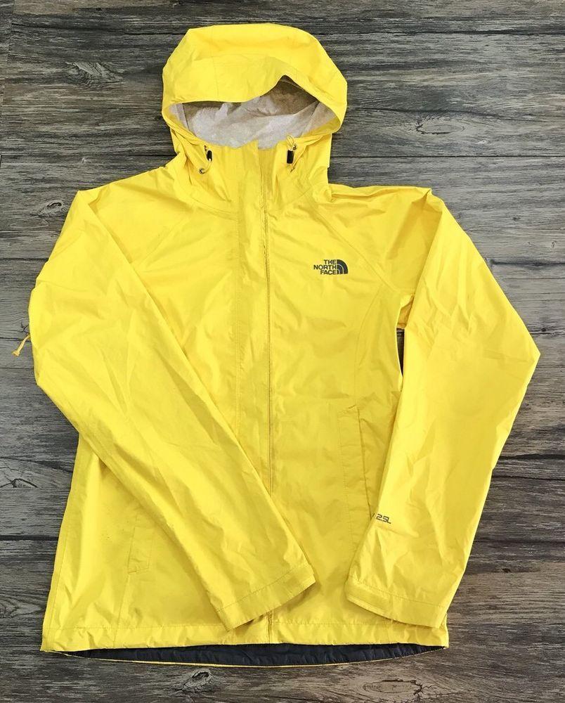 b4af1f7f6 The North Face HyVent 2.5L Windbreaker Rain Jacket Bright Yellow Sz ...