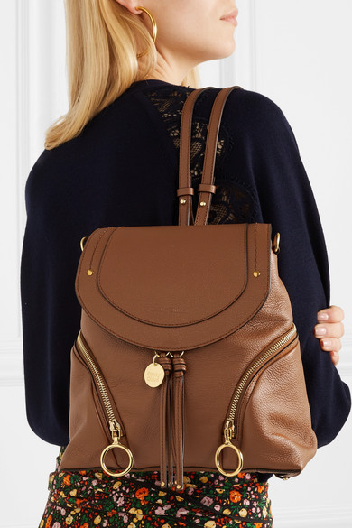 10fdf876 See by Chloé - Olga Medium Textured-leather Backpack - Tan ...