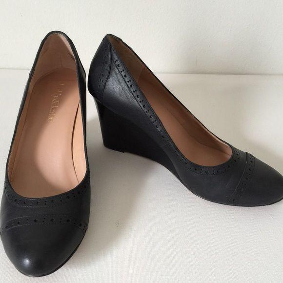 4eba173e855 EUC Wedges Leather Black Closed Toe Kelly  amp  Katie EUC - worn twice.  Fabulous