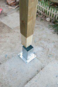 How To Anchor Post To Concrete Pergola Pergola Patio Backyard