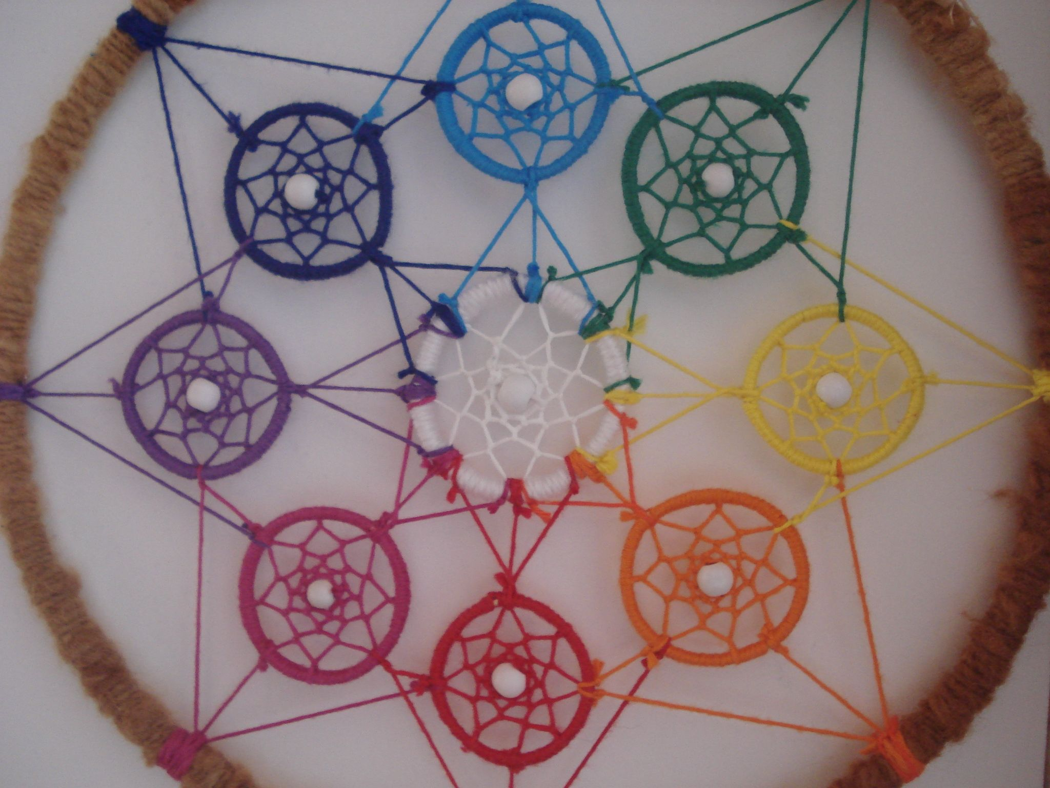 This Paperclip Dreamcatcher Is About Two And A Half Feet