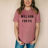 Photo of Läuft für Pie Unisex T-shirt Funny Running