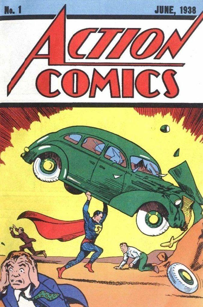 aparicion de superman action comics #1 junio de 1938