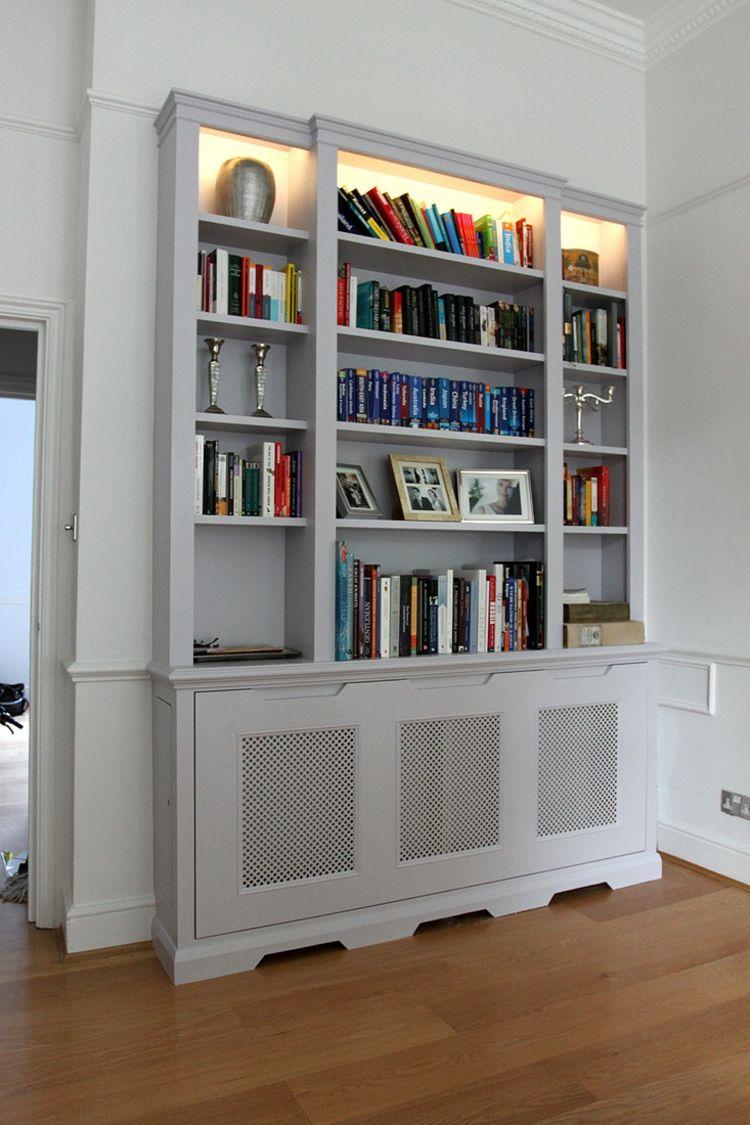 ideen heizkoerperverkleidung offen regal beleuchtung. Black Bedroom Furniture Sets. Home Design Ideas