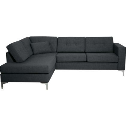 Brooklyn Left Hand Corner Sofa Charcoal At Homebase Be Inspired And Make Your House A Home Now
