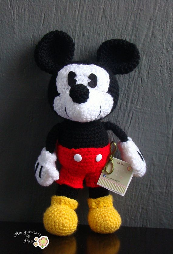 Mickey Mouse Amigurumi Pattern | Pinterest | Figuren häkeln, Disney ...