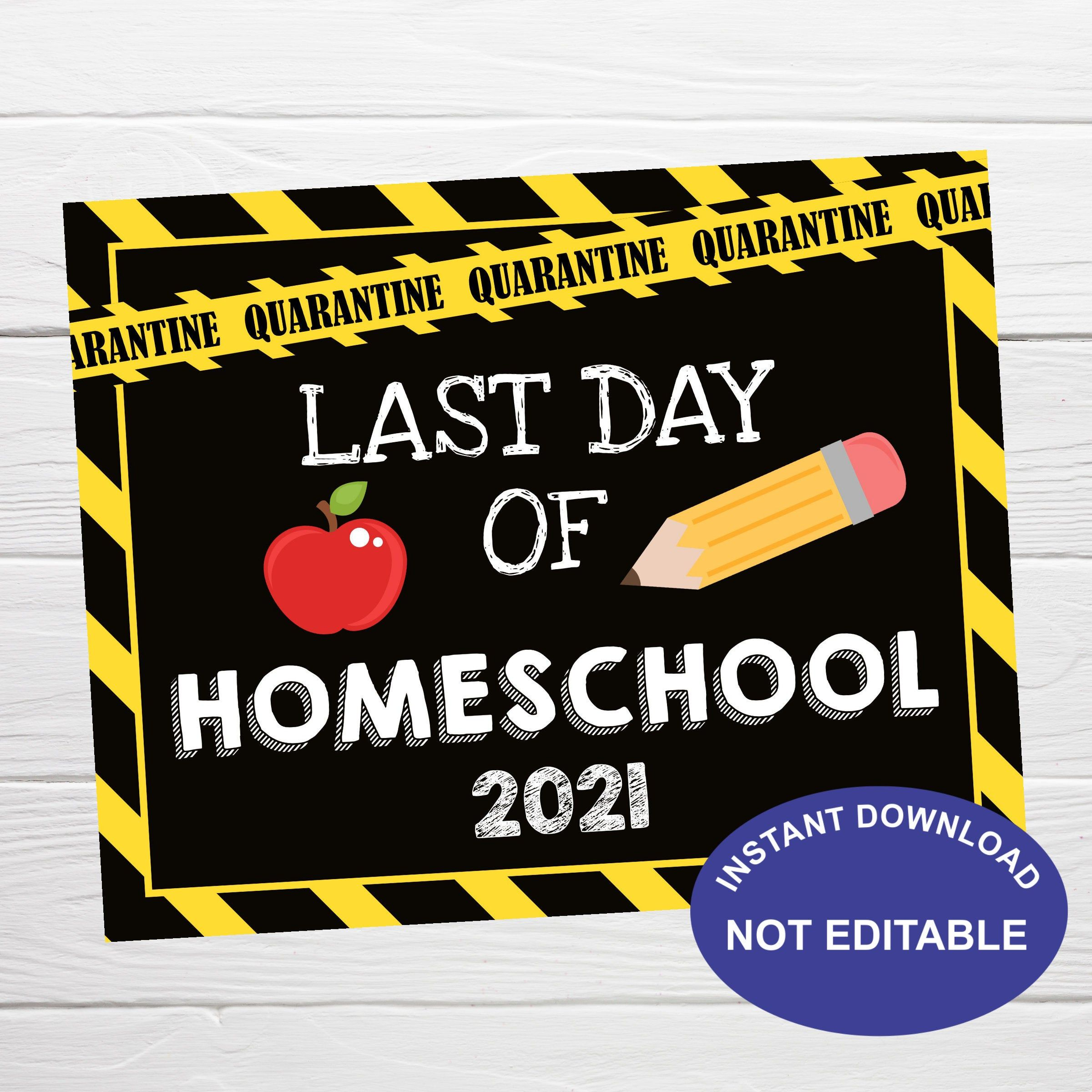 Quarantined Last Day Of Preschool Editable Printable Diploma Custom Graduation Certificate Corjl Digital File Printable Editable Template
