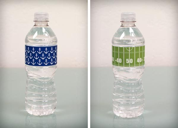 Printable Water Bottle Labels The Football One Would Be Great For