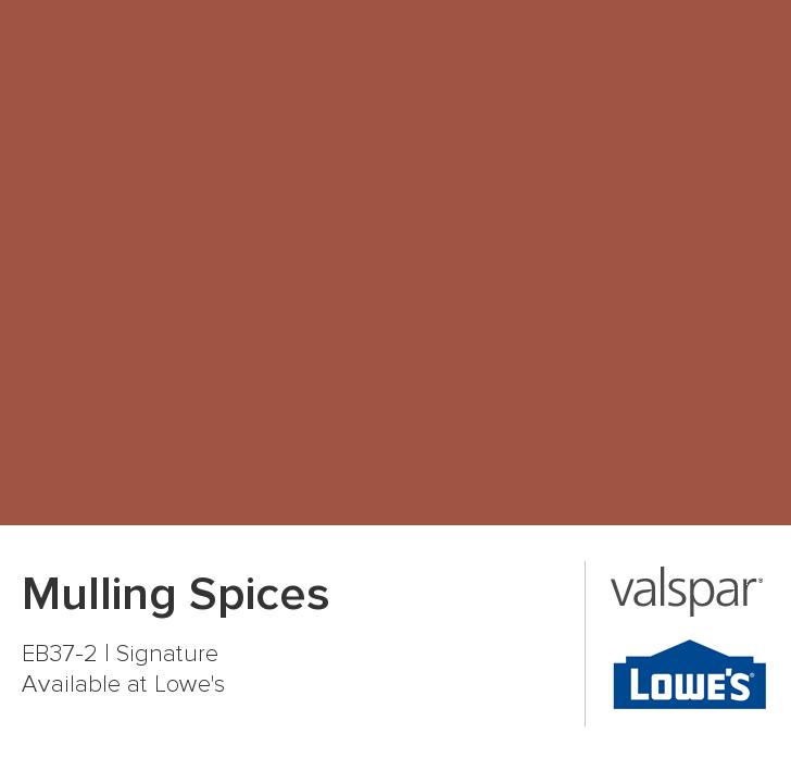 Mulling spices from valspar current accent wall for Valspar color visualizer