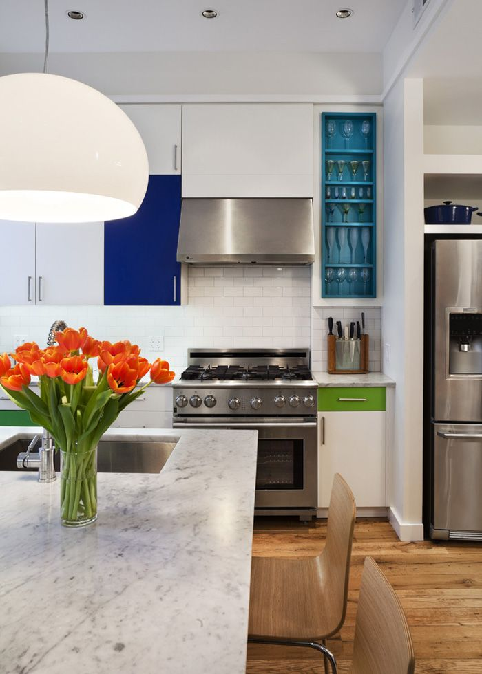 Rehab Diaries: Color Block Kitchen in Brooklyn | Küche