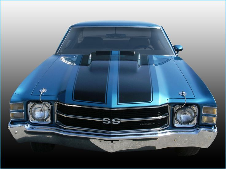 1971 chevelle ss blue coupe front view chevelle muscle cars high … – #Blue #ca…