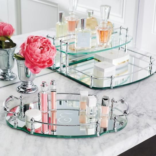 Belmont personalized oval vanity tray holidays ideas for Bathroom tray ideas