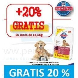 Hills Canine Adult Light Razas Grandes 12 Kg 20 Gratis Pienso