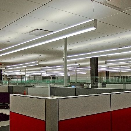 Hanging light fixture fluorescent linear extruded aluminum lightplane up and under architectural lighting works and find where you can buy it