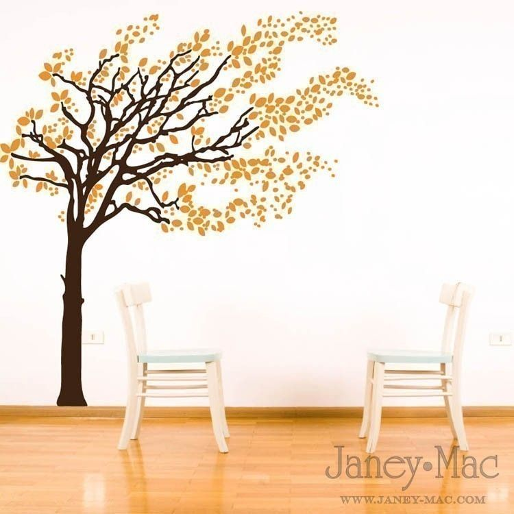Nice.    Blowing Tree Wall Decal - Windy Leaves Vinyl Wall Art Sticker - HT101. $92.00, via Etsy.