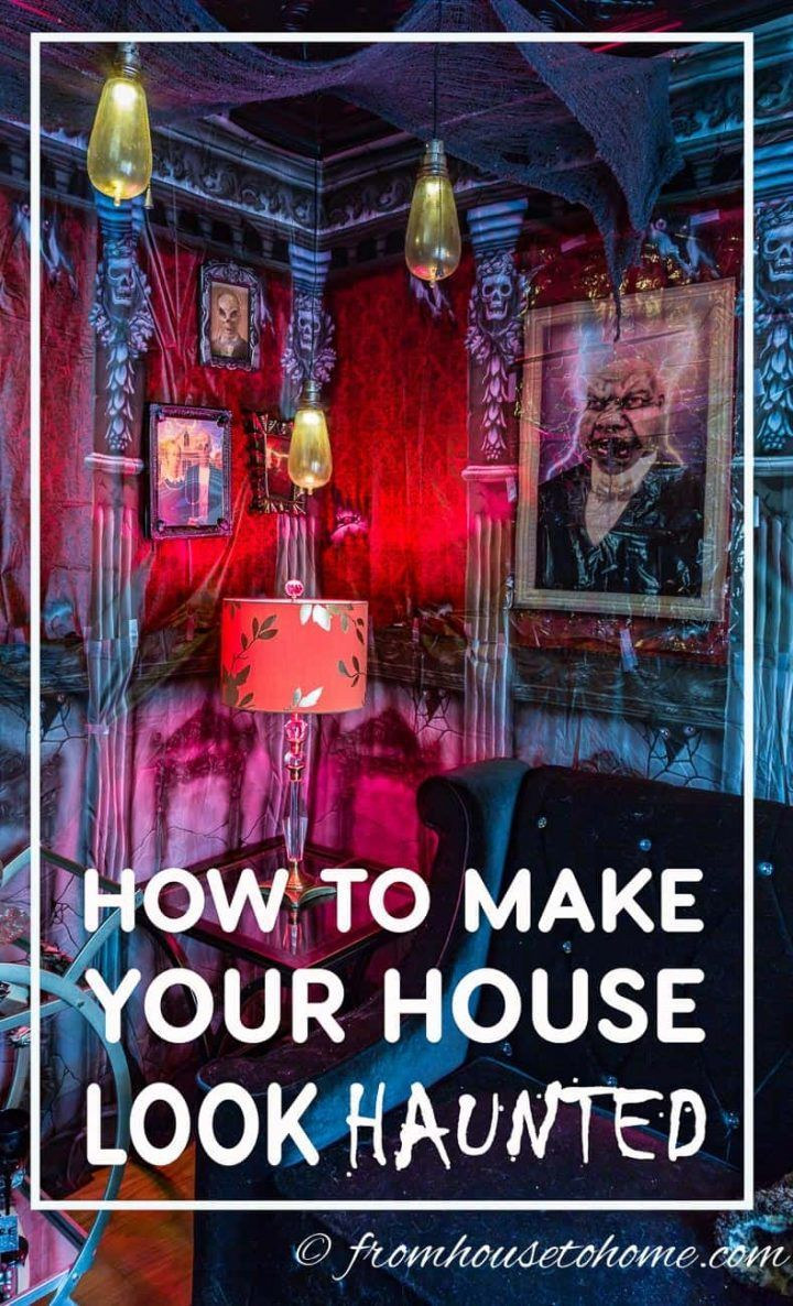 These Halloween haunted house decorations and ideas are so SPOOKY! I can't wait to try them for my Halloween party this year! #halloweenobsession #halloween #hauntedhouse #halloweenindoordecor