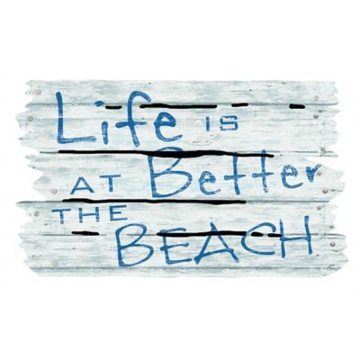 The Masterpiece Life Is Better At The Beach Door Mat Is Made Of Recycled  Materials And Is The Perfect Way To Decorate Your Beach House Or Add A  Touch Of The ...