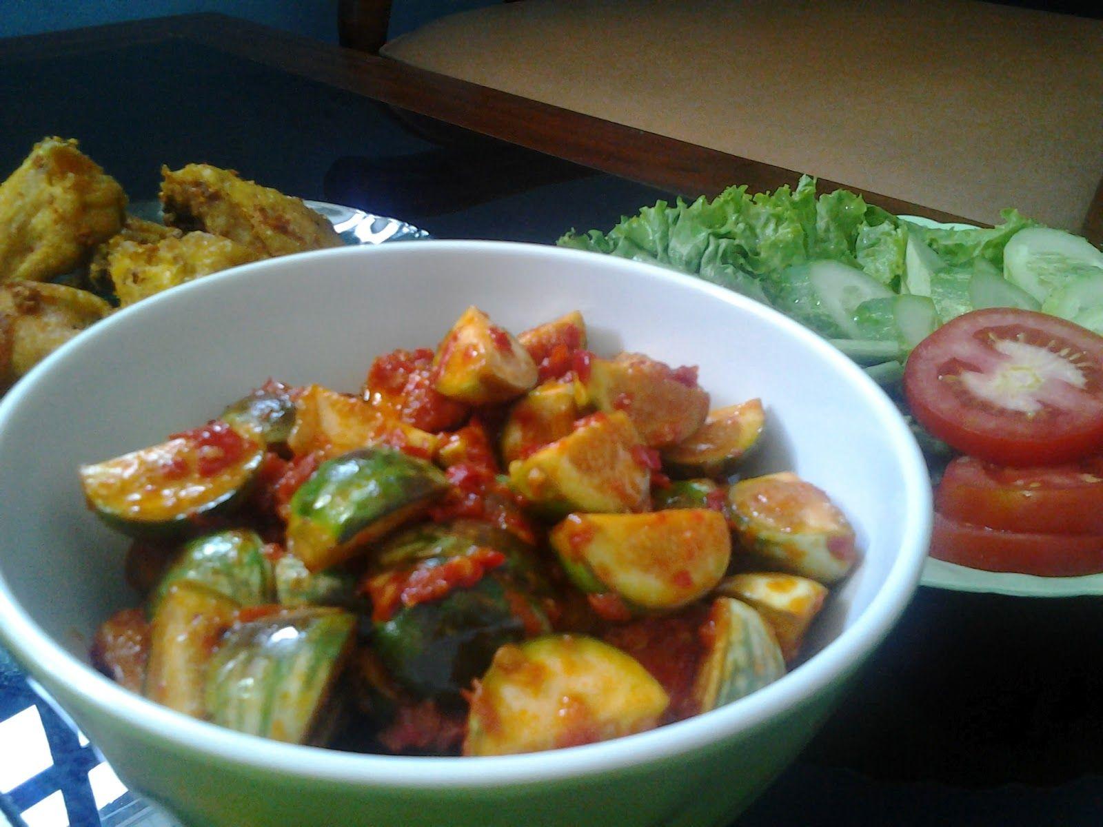D Simple Recipes Sambal Terong Bulat Terong Lalapan Sambal Recipe Veggie Recipes Recipes